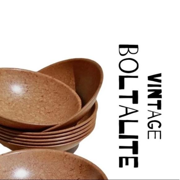 Boltalite Vintage Set of 3 Mid Century Melmac Bowl